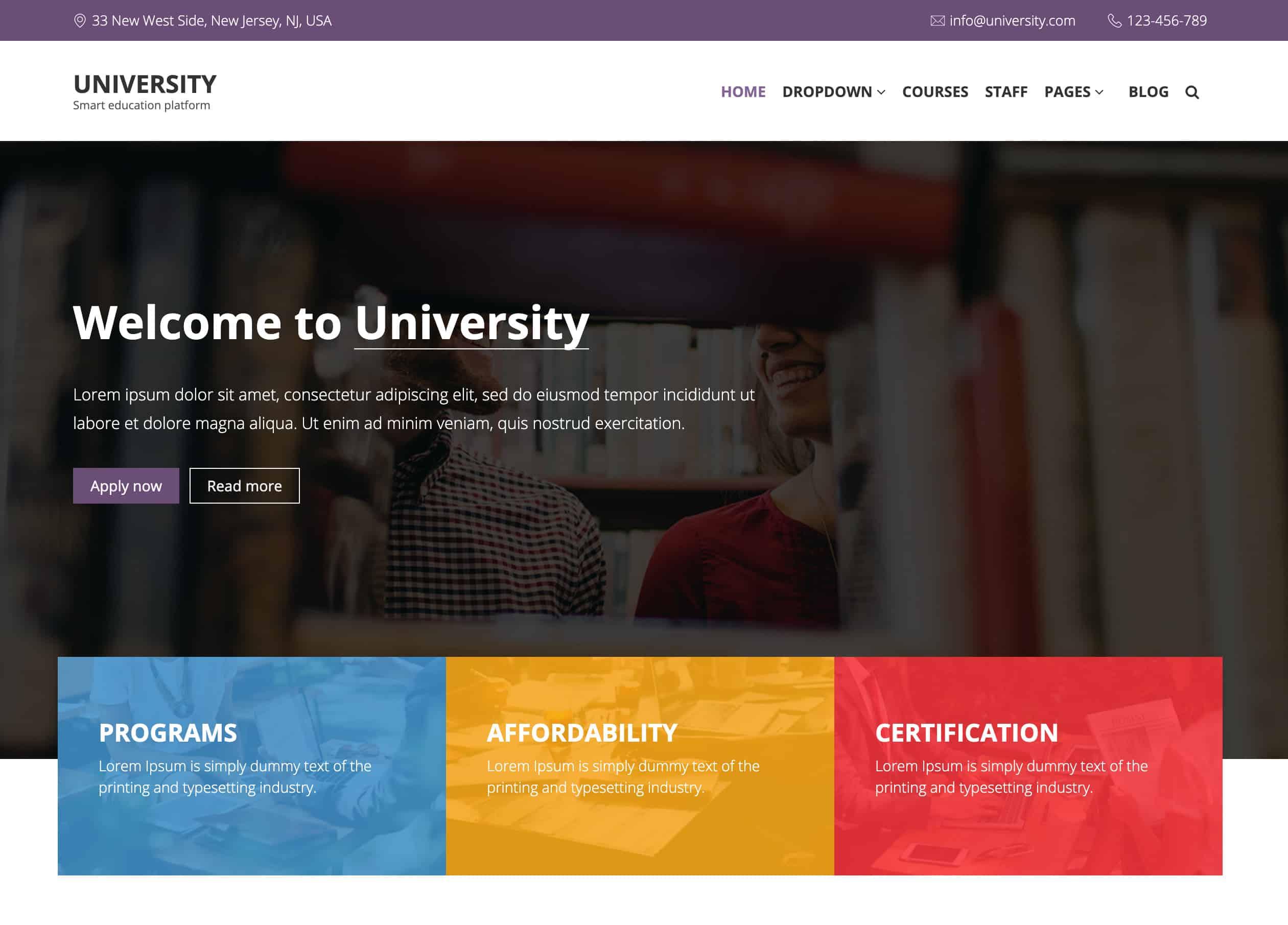 university-template