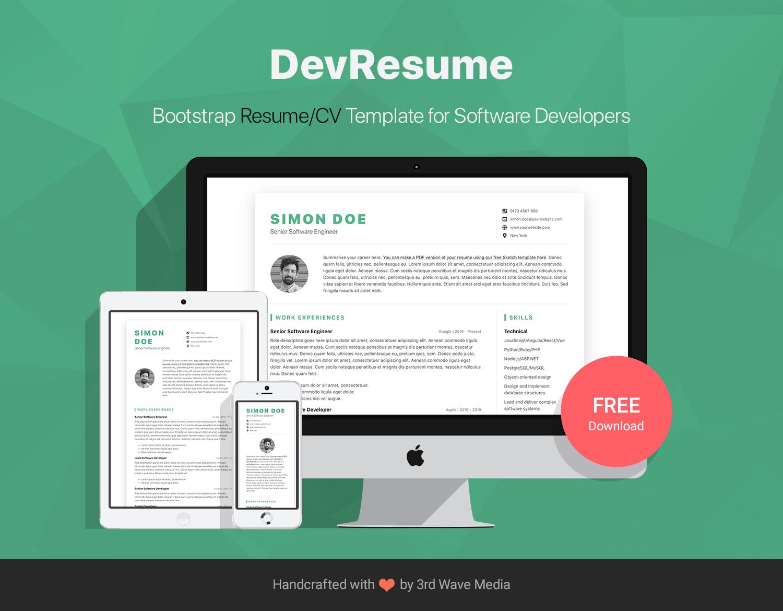 Bootstrap-5-Resume-CV-Template-DevResume
