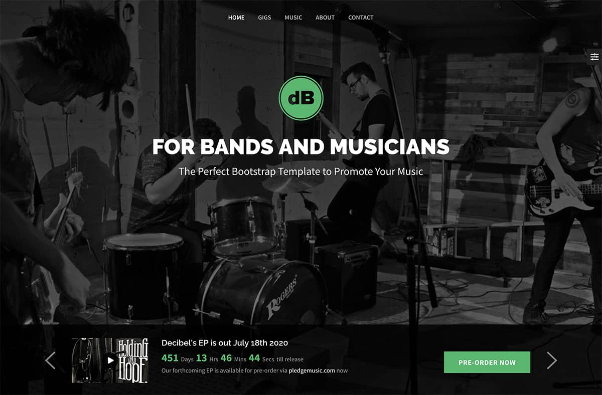 decibel-bootstrap-template-for-musicians-bands