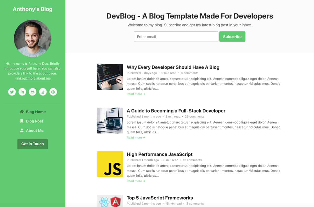 devblog-bootstrap-blog-template-for-developers