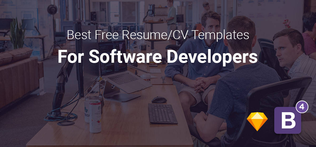 Top 3 Free Software Developer Resume/CV Templates (HTML5 ...