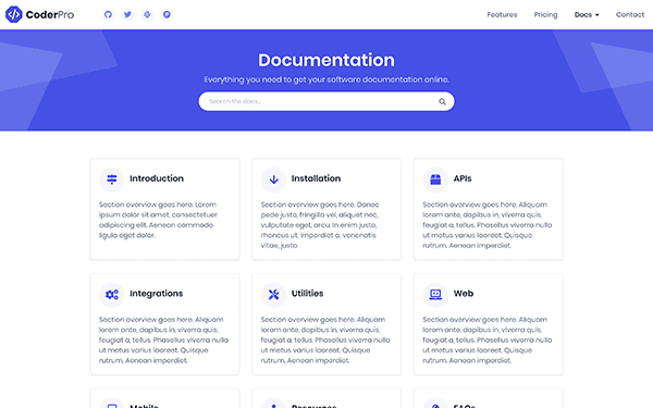 coderpro-theme-docs-home-page