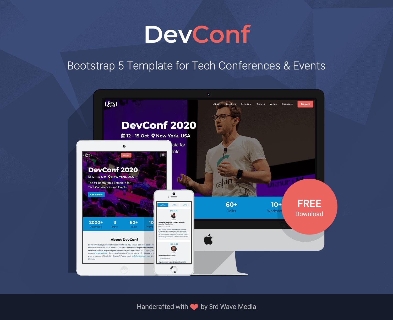 Bootstrap-Tech-Conference-Template-DevConf-Pormo