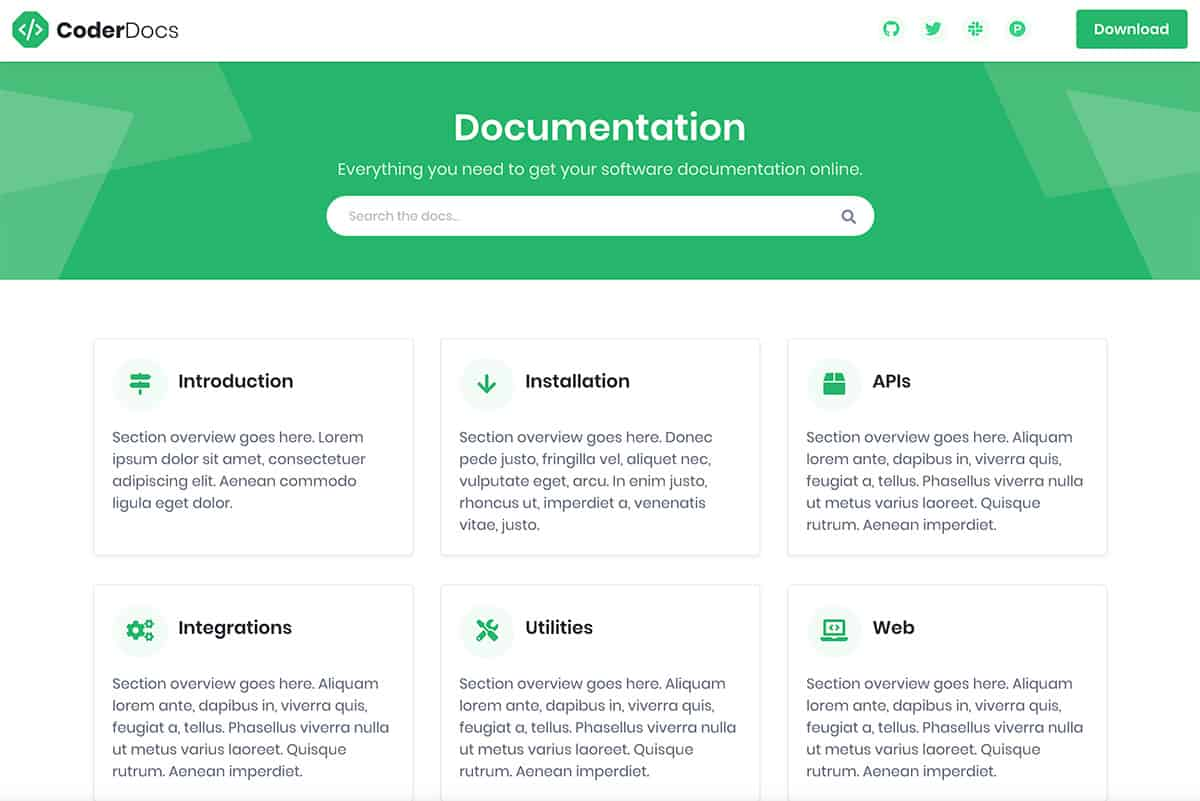 CoderDocs Technical Documentation Template