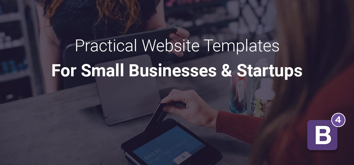 Bootstrap website templates for small businesses and startups