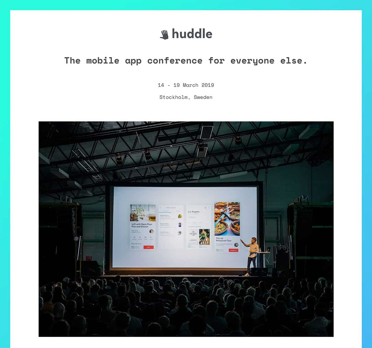 Huddle - Free Conference and Event Template