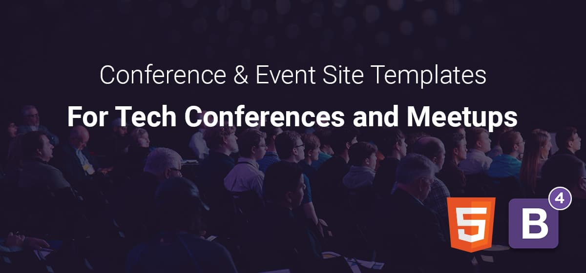 Free One-Page Conference & Event Site Templates For Tech Conferences and Meetups