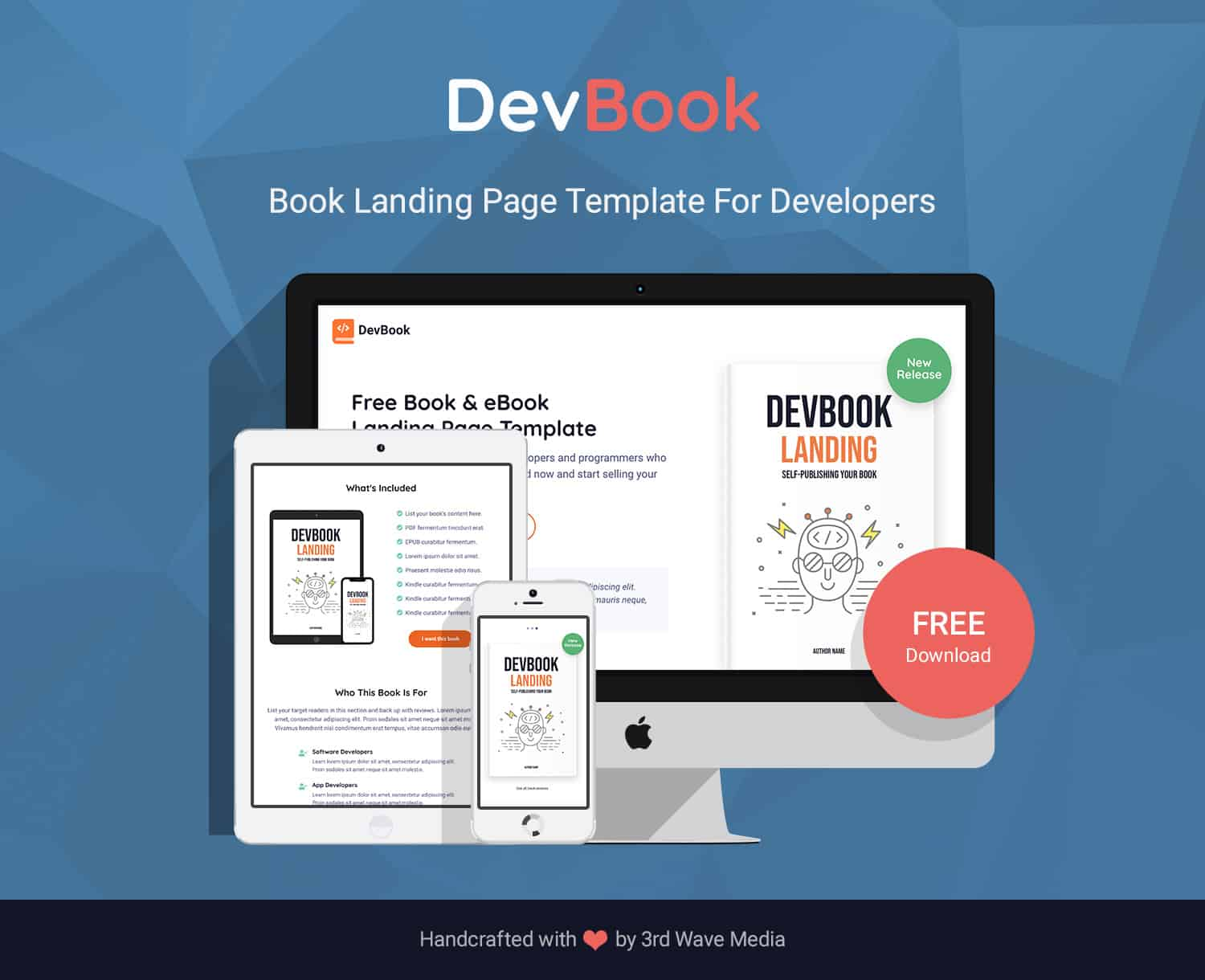 DevBook - Bootstrap Book Landing Page Template For Developers