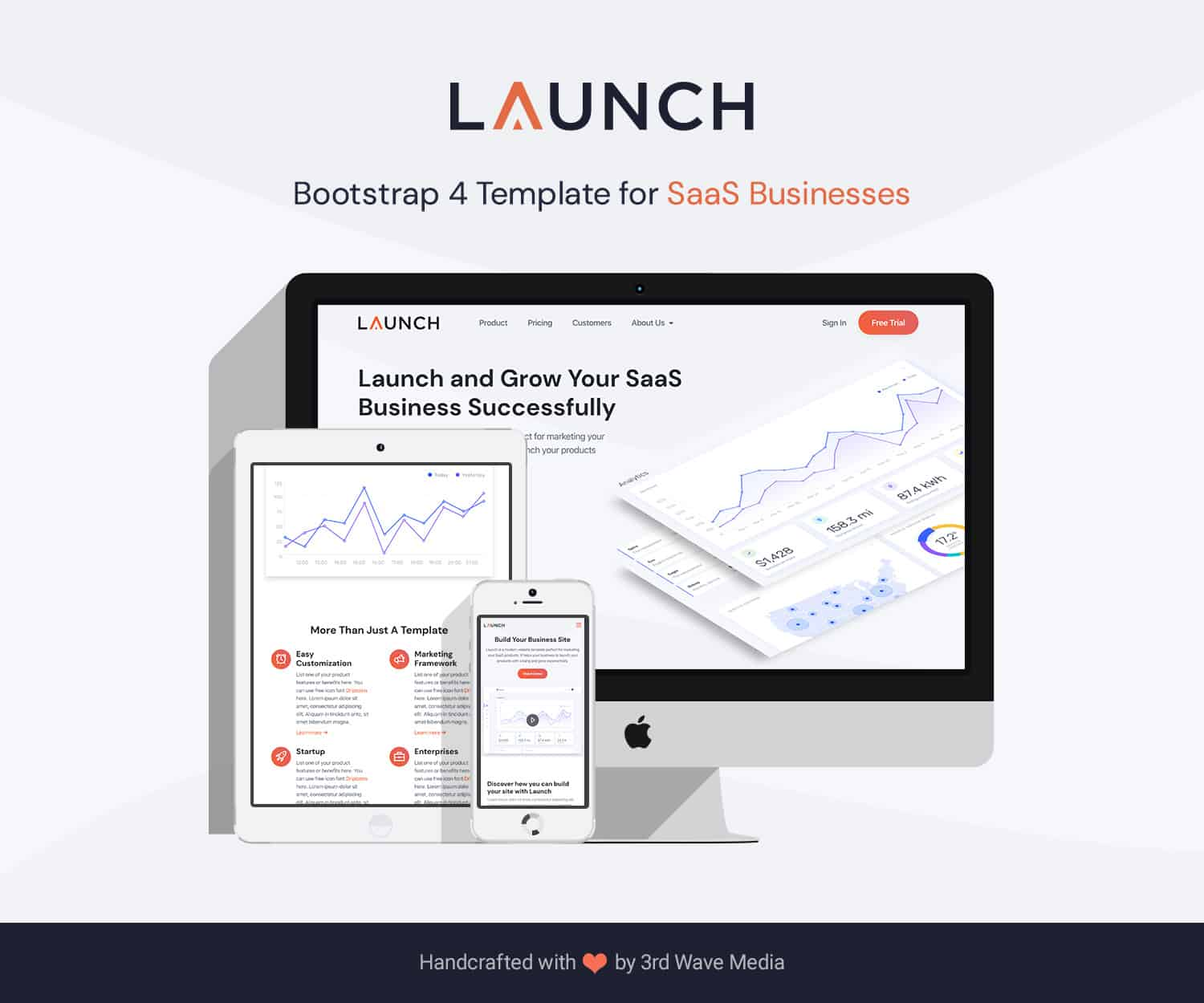 Launch - Bootstrap Template For SaaS Businesses