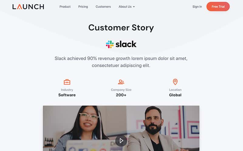 Launch Template Customer Story Page