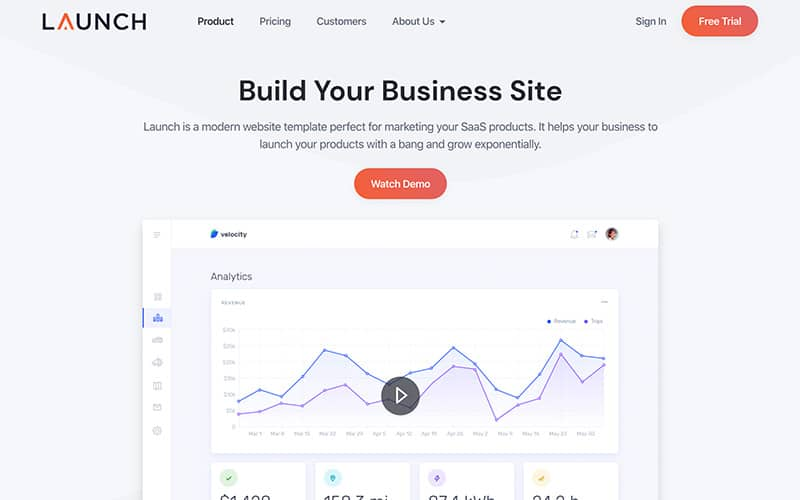 Launch Template Product Page
