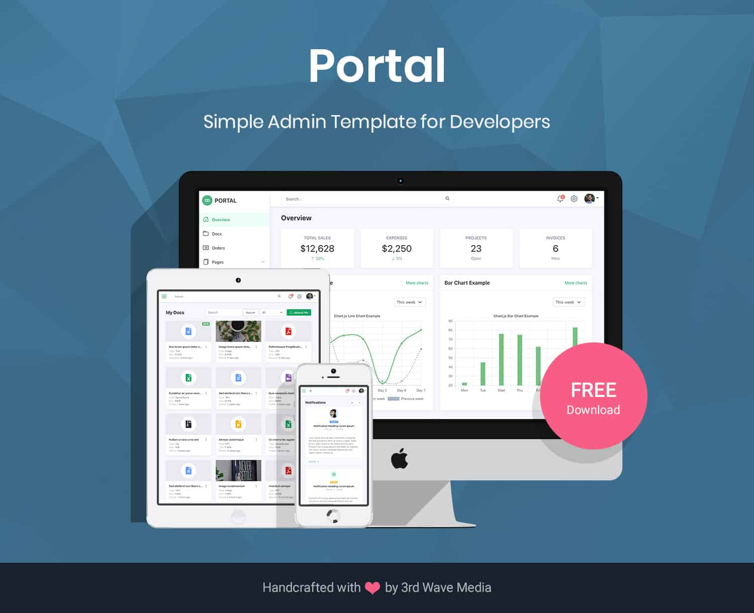 Portal-Bootstrap-Admin-Dashboard-Template-For-Developers