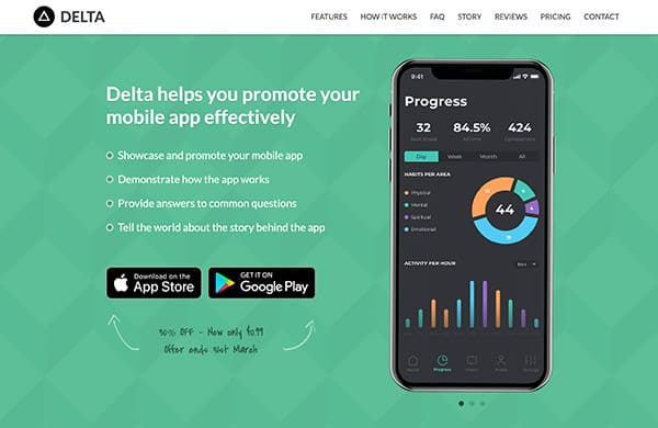 delta-bootstrap-template-iphone-landing