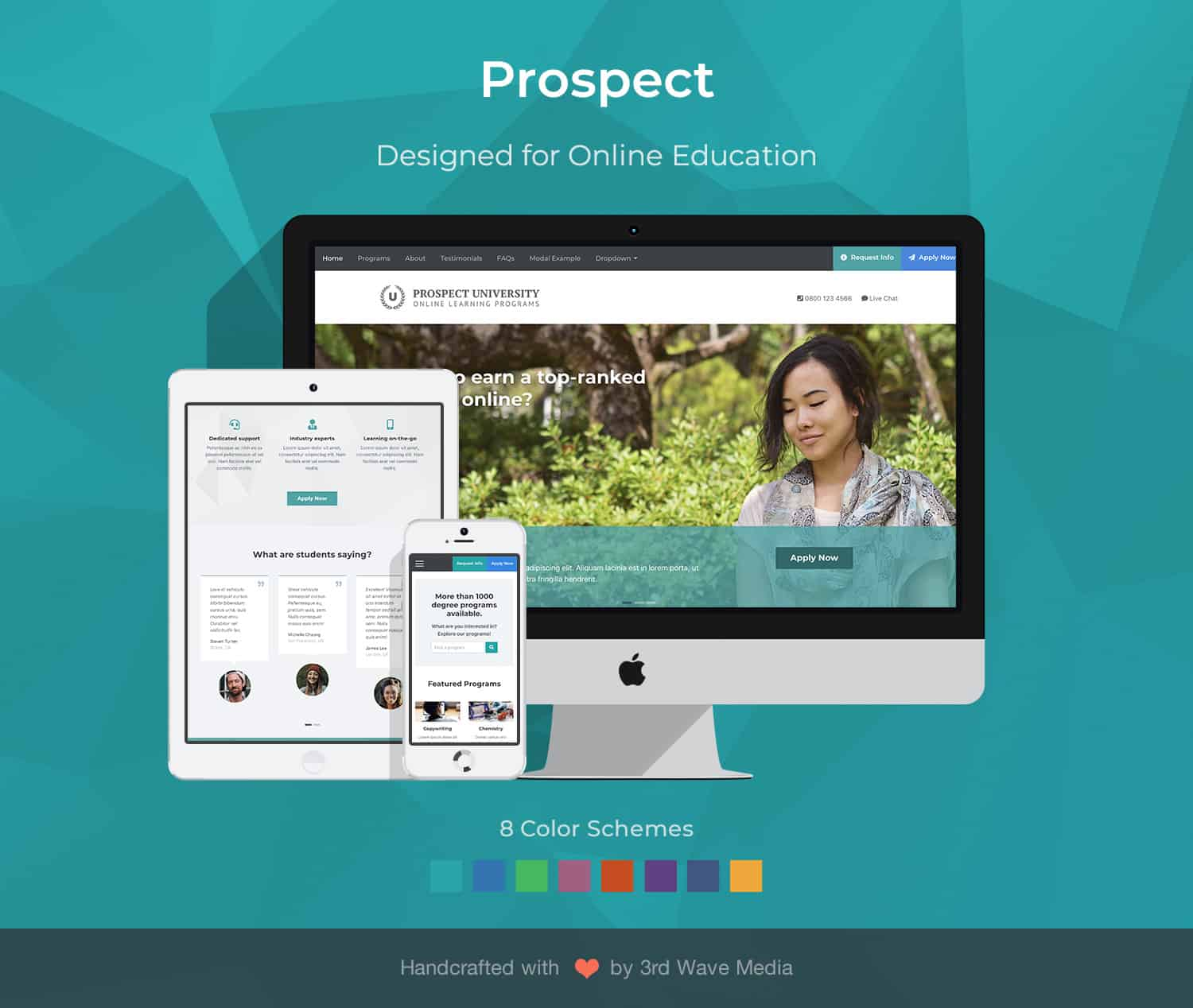 https://themes.3rdwavemedia.com/wp-content/uploads/2020/10/Prospect-Bootstrap-Education-Landing-Page-Template.jpg